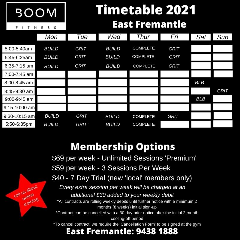 Personal Trainers Boom Fitness East Fremantle Sessions